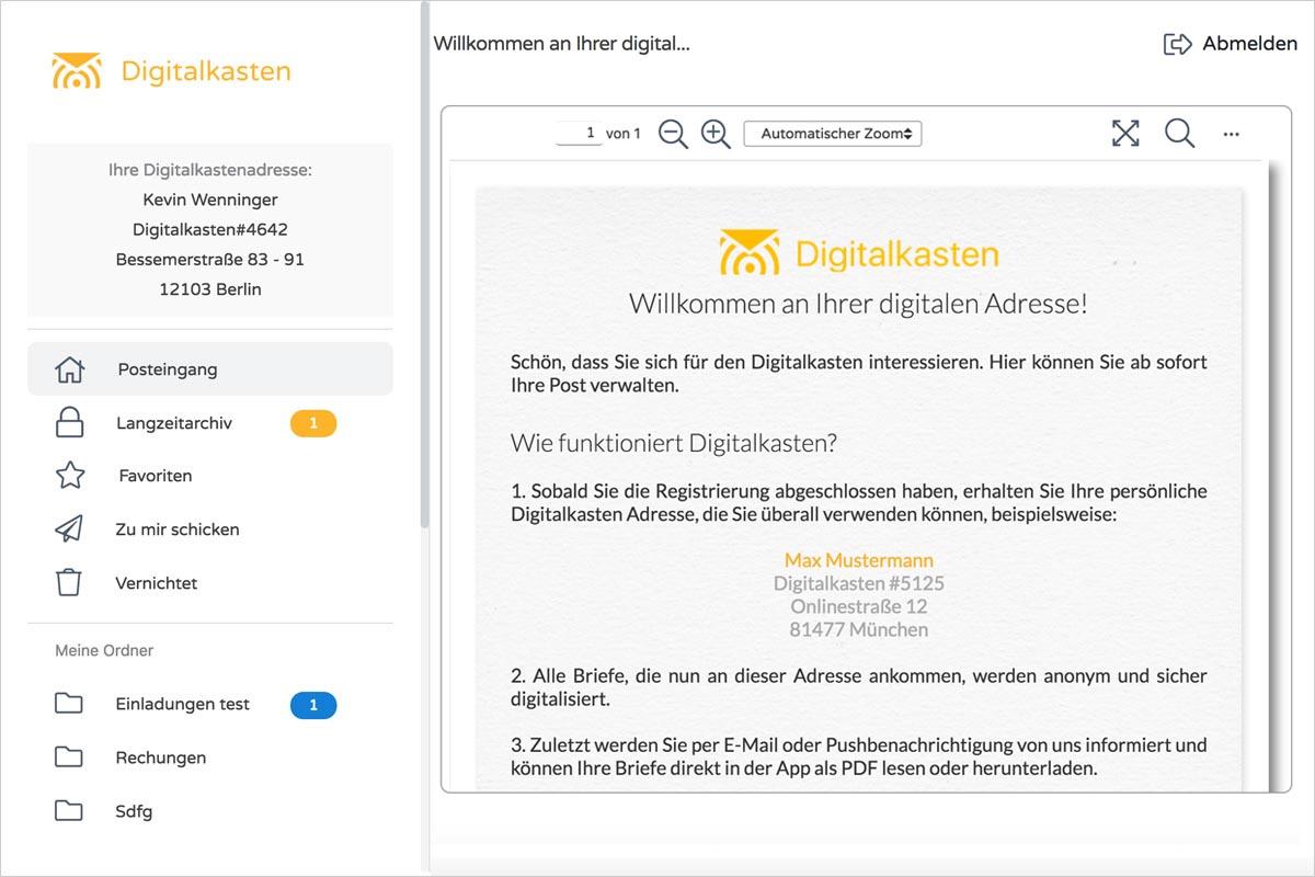 Digitalkasten Die Smarte Verwaltung Von Briefpost Dokumente